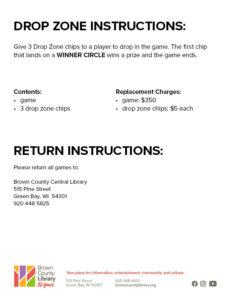 Drop Zone Instructions