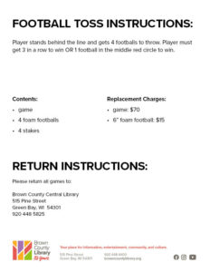 Football Toss Instructions